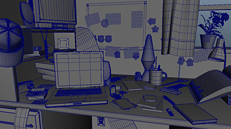 3M Post-it Dorm 3D Wireframe